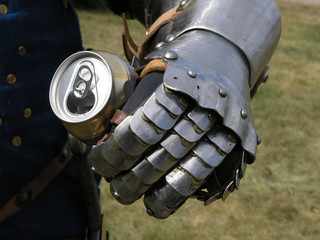 knight with a tin