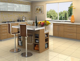 wood and stainless steel kitchen poster