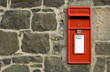 british red post box - 3384353