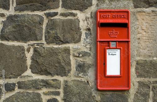 british red post box - 3384353