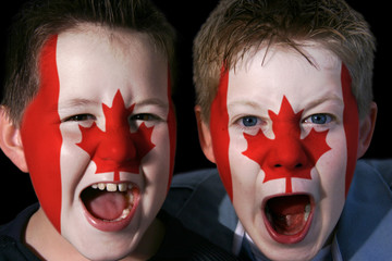 young canadian ice hockey fans