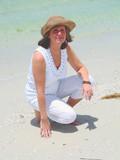 pretty lady on the beach