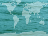 global map flooded earth poster