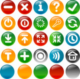 Internet and application icon poster