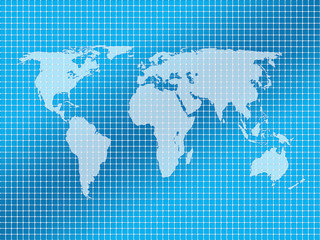background squares and world map