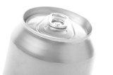 silver blank soda can poster