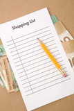 shopping list poster