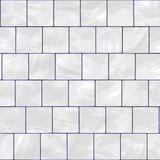 glossy white tiles poster