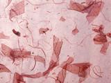 handmade paper pink poster