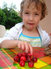 manger des cerises