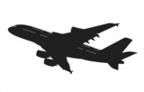 airliner silhouette poster