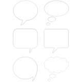 3d comic speech bubbles poster