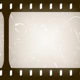 35mm scratched frame (rendered) poster