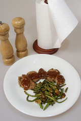pork steak with bean