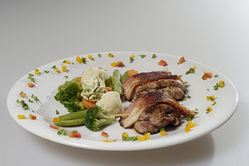 pork steak with vegetables
