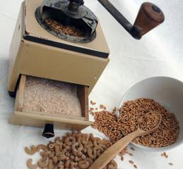 wheat wood spoon mill flour pastes