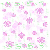 pink flowers wrap poster