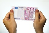 500 euro bank note poster