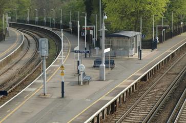 deserted rail platforms