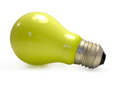 lâmpada verde poster