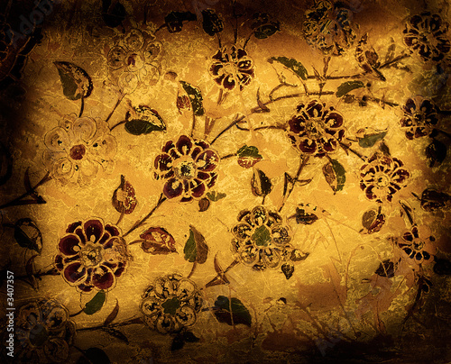 Leinwandbild Motiv grunge floral background