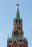 spasskaya tower of the kremlin, moscow, russia poster