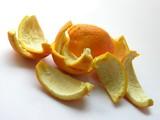 oranges skin as peelings poster
