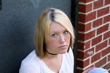 unhappy young woman
