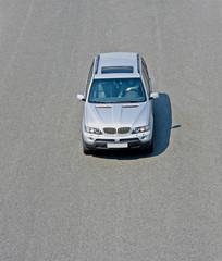 luxury german 4x4 car suv jeep isolated high speed