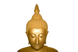 face of buddha isolated poster
