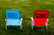 two chairs on grass
