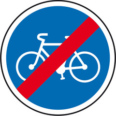 fin de bande cyclable