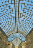 glass dome of gum shopping center, moscow, russia poster