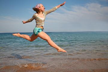 jump on the sea