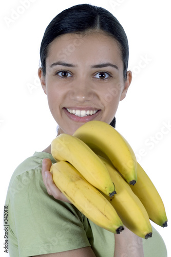 girl with bananas