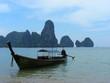 tourist boat in phang-nga bay - thailand - asia