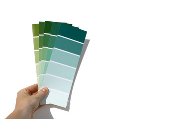 paint swatches - green