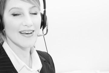 phone speaking woman