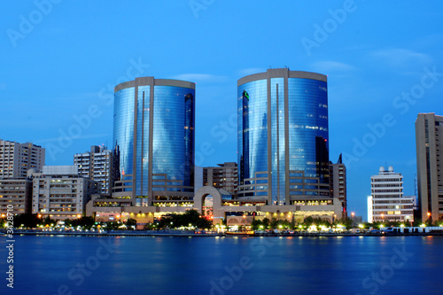 Plexiglas Dubai twin towers, dubai creek, united arab emirates