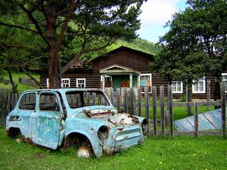 vieille voiture en sibérie
