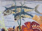 poisson - mosaique huitrière poster