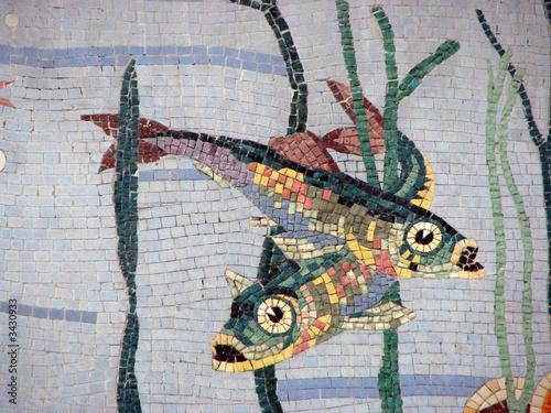 poster of poisson - mosaique huitrière