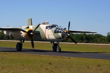 bomber on runway