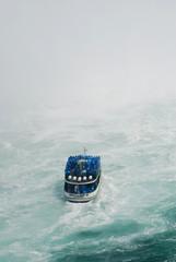 boat  under niagara falls