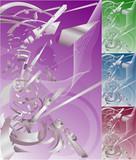 conceptual futuristic background poster