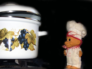 saucepan and toy