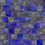 blue ceramic tiles poster