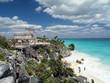 tulum ruins overlooking caribbean