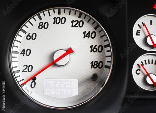 speedometer of sport car