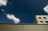 geometric building with sky poster